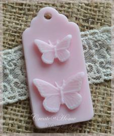 Zeepjes label vlinders. Per 3