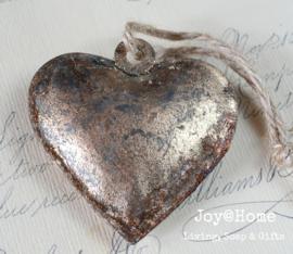 Hartje metaal antiek goud