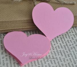 Label hartje in vele kleurtjes & afm. met of zonder touwtje & tekst