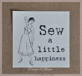 Sticker linnenpapier  Sew a Little happiness