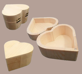 Kistje hartvorm hout