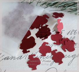 Pergamijn loonzakje met kerstmannetjes in vele kleurtjes