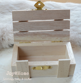 Houten cadeaudoosje-kistje