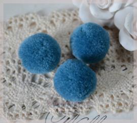 Pompon groenblauw