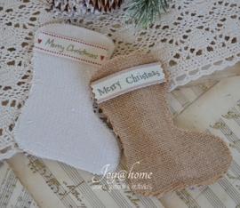 Kerstsok/zakje met lintje, keuze uit 2