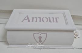 Houten kistje Amour