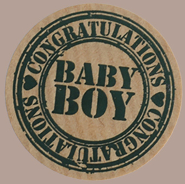Sticker kraft Baby boy