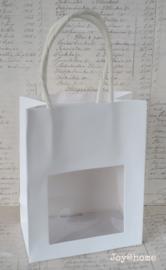 Cadeautasje wit met venster