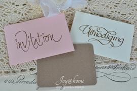 Envelopje stempel incl. kaartje met of zonder tekst. In vele kleuren