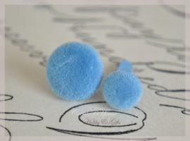 Splitpen stof, blauw