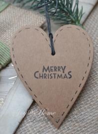 Kraft hartje Merry Christmas
