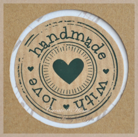 Sticker kraft handmade with love
