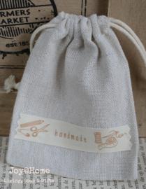 Linnen zakje Handmade