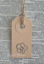 Label bloem in 6 kleuren