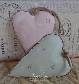Zink hart in 2 kleuren. Clayre & Eef