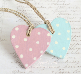 Houten hartjes in 2 kleuren