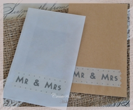 Pergamijn of kraft loonzakje masking tape Mr & Mrs