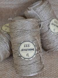 Linnen touw olijfgroen 100 gram