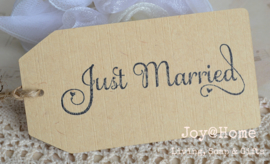 Label Just Married in vele kleuren
