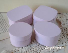 Mini doosjes van hout, roze