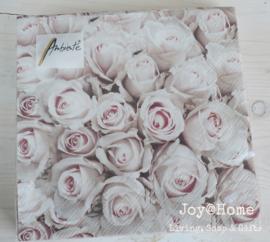 Servetten pastel roses
