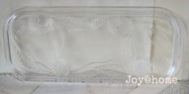 Dienblad glas met werkje