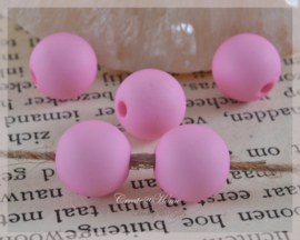 Kralen acryl, roze