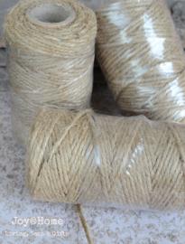 Jute touw 3 draads 50 gram
