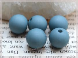 Kralen acryl, petroleum blauw