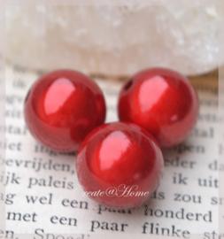 Kralen acryl, 3D rood