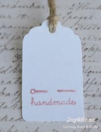 Label Handmade met naald in vele kleurtjes