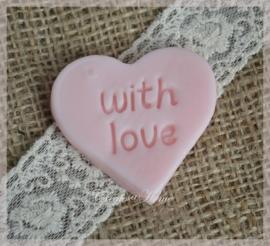 Zeepjes hartje with love. Per 5