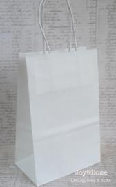 Tasje kraft papier wit