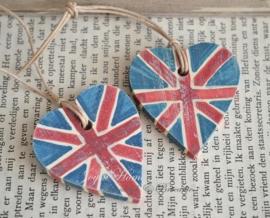 Houten hartje Engelse vlag