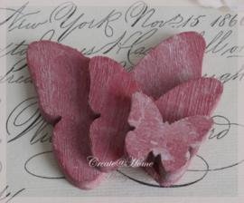 Vlinder hout, donker roze
