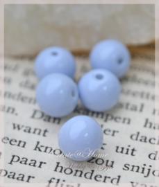 Kralen glas polaris opaque, babyblauw