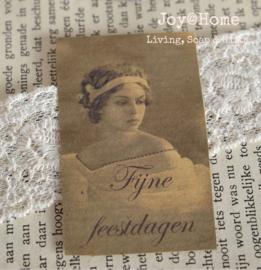 Sticker vintage, Fijne feestdagen