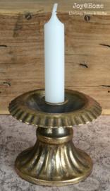 Antiek goudkleurige kandelaar met of zonder kaars in 10 kleuren