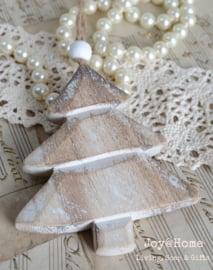 Houten kerstboom met kraal