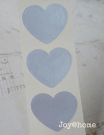 Sticker hartje zilver