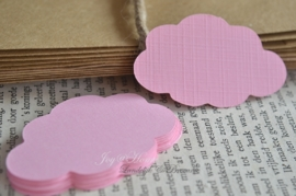 Label wolkje in vele kleurtjes & afm. met of zonder touwtje