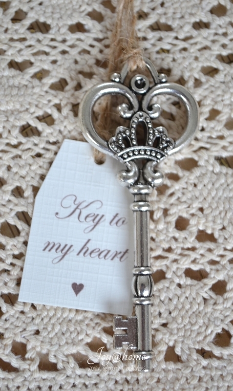 Vintage sleutel, Key to...(eigen tekst)