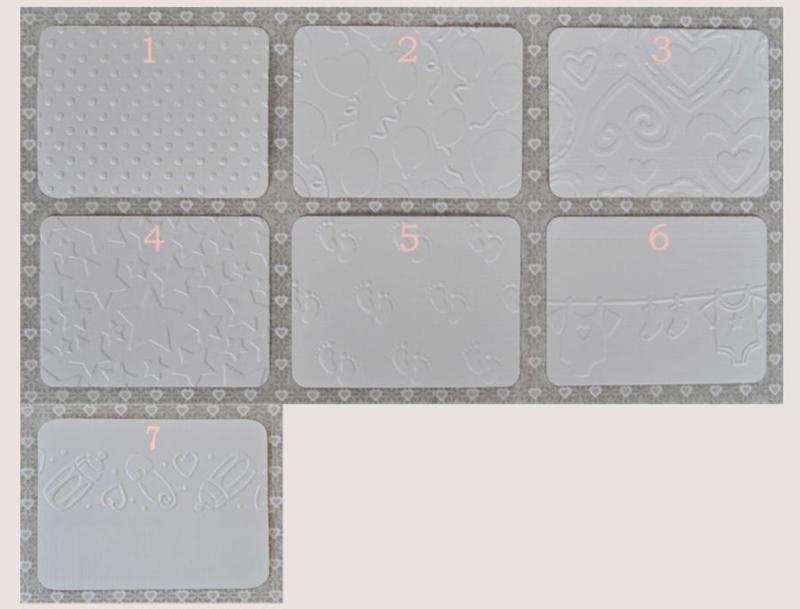 Envelopje met reliëf & kaartje in vele combinaties & kleuren