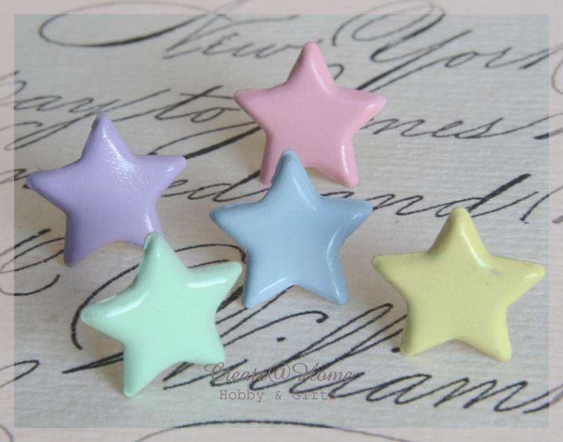 Splitpen ster, pasteltinten