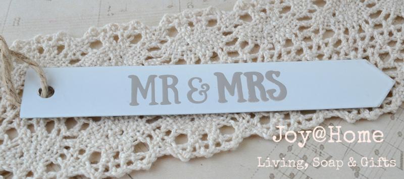 Zinken label Mr & Mrs