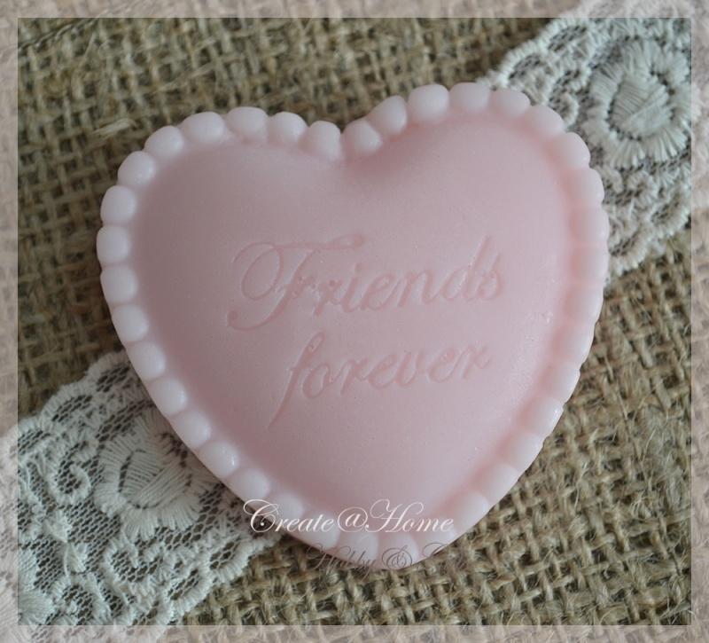 Zeepjes hartje Friends forever. Per 3