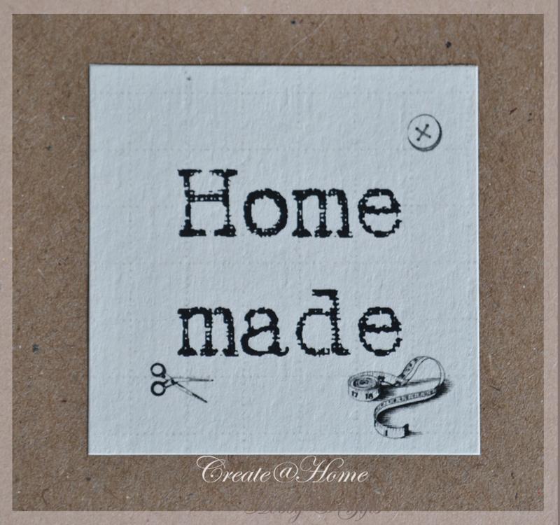 Sticker linnenpapier  Home made