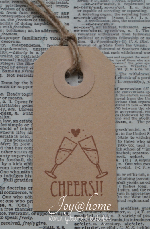 Label Cheers in 7 kleuren