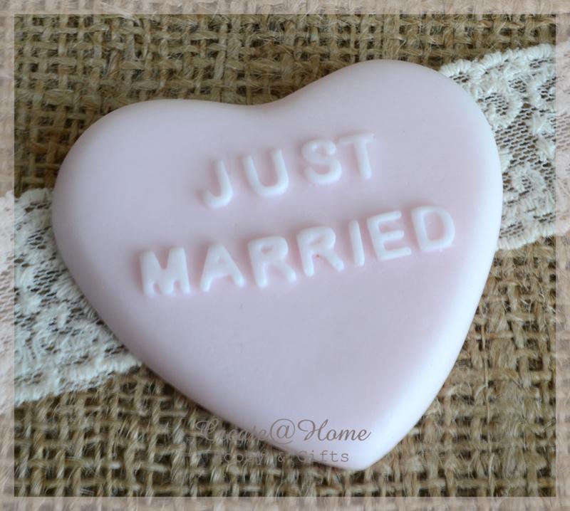Zeepjes hart Just married. Per 3