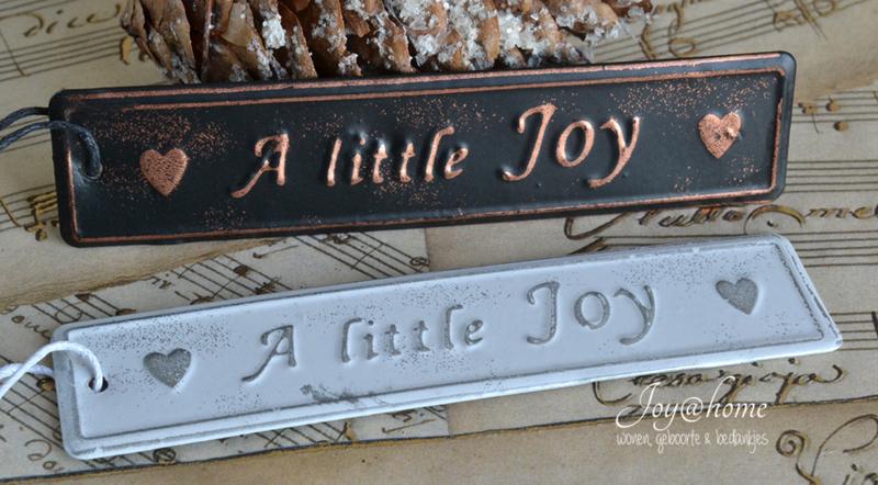 Label zink A little joy in 2 kleuren